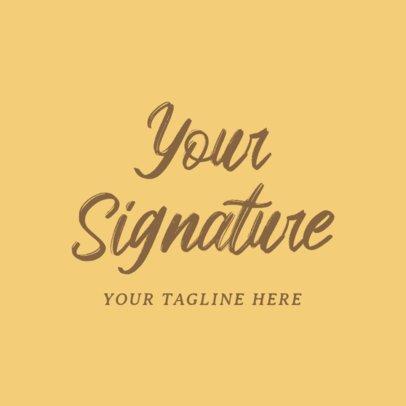 Signature Logo Maker for Fashion Business 1077d