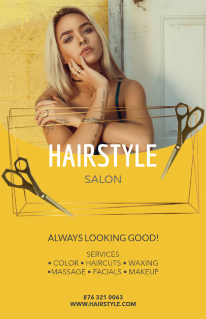 Online Flyer Maker for Hair Stylists 88c
