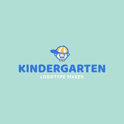 Kindergarten Logo Maker with Kids Graphics 1094e
