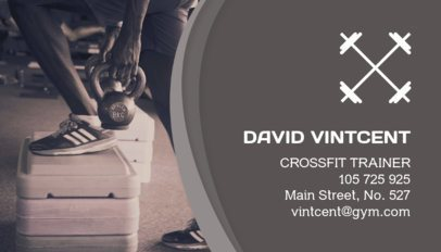 Personal Trainer Business Card Maker for Crossfit Coach 91a