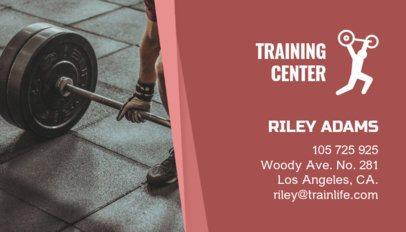 Business Card Maker for a Fitness Training Center 91b