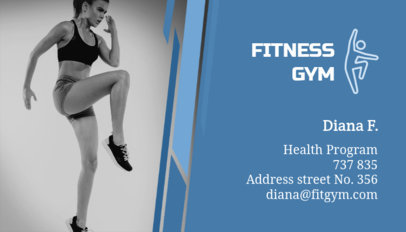Personal Trainer Business Card Template for Gyms 91c