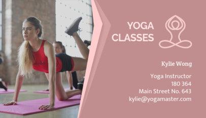 Yoga Teacher Business Card Maker 91d