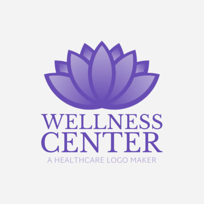 Custom Logo Maker for a Wellness Center 1049d