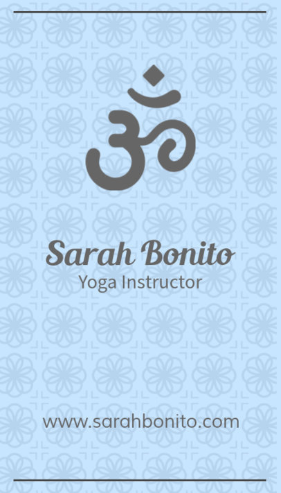 Yoga Instructor Business Card Maker with Ohm Symbol 105c