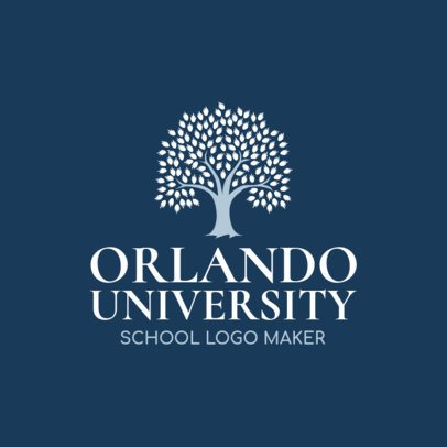University Logo Maker with Tree Graphic 1087b
