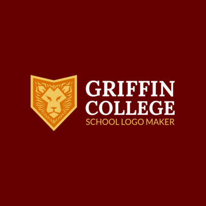 College Logo Maker with Badge Graphic 1087c