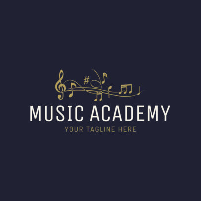 Music Academy Logo Maker 1136d