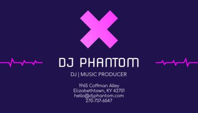 Online Business Card Maker for a DJ 130c