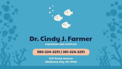 Business Card Template for Aquarium Stores 144a