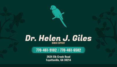 Business Card Maker for Avian Vets 144c