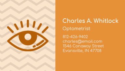 Placeit Optometrist Business Card Maker