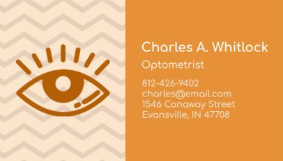 Business Card Template for Optometrists with Modern Design 145a