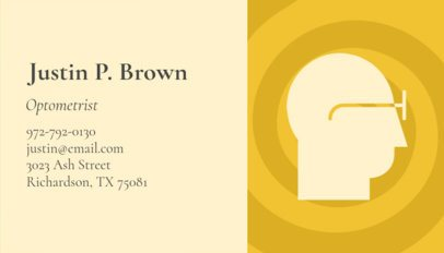 Minimalist Business Card Template for Optometrists 145d