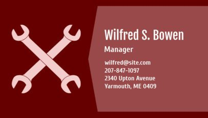 Business Card Maker for an Automotive Professional 170a