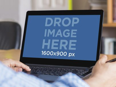 Windows Laptop Mockup Template At The Office
