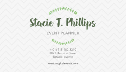 Business Card Generator for Event Planners 132a