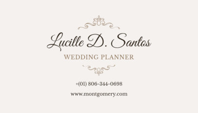 Classy Business Card Maker for a Wedding Planners 132c