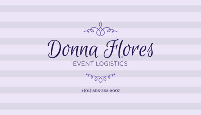 Business Card Maker for Event Planners 132e