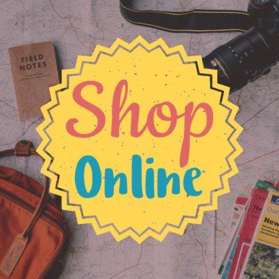 Social Media Post Template for Shop Online Images 581c