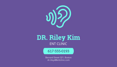 Business Card Maker for ENT Doctors 74a