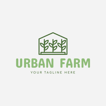 Urban Farm Logo Maker with Plant Images 1166c