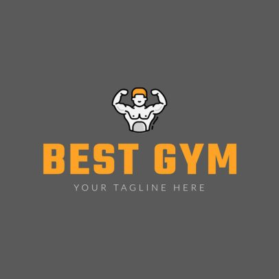 Custom Logo Maker for Gyms with Line Art 1180a