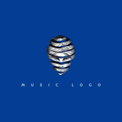 Band Logo Maker with Ink Illustration 1095e
