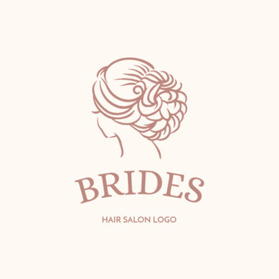 Logo Maker for Bridal Makeup Artists and Hairdressers 1153f