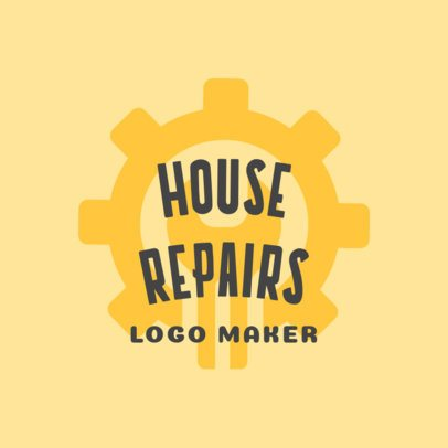 Handyman Logo Maker with Nut and Wrench Icon 1156c