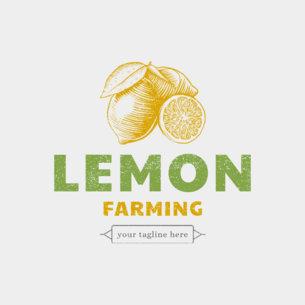 Online Logo Maker for Organic Farmers 1192b