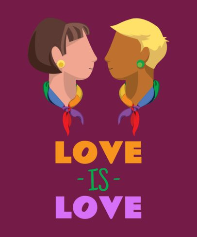 LGBT T-Shirt Design Maker Featuring a Couple Illustration 29b