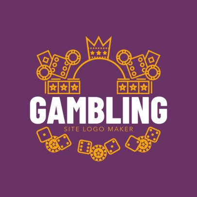 Online Gambling Site Logo Maker with Casino Images 1158d