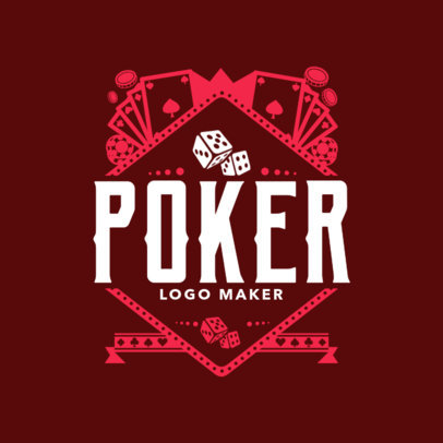 Poker Online Site Logo Maker with Casino Images 1158e