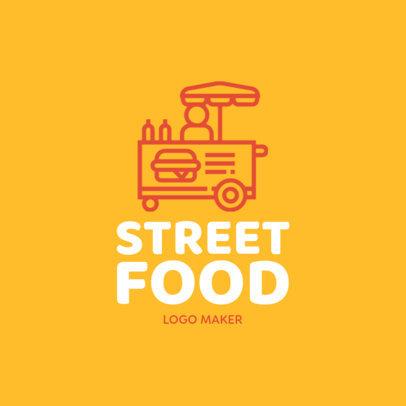 Online Logo Maker for a Street Food Cart 1282a