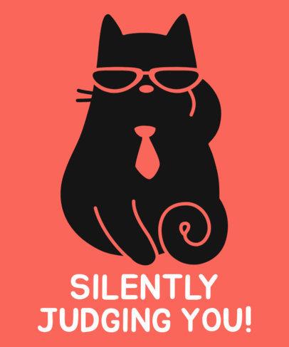 Business Cat T-Shirt Design Maker 24b