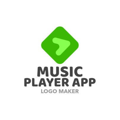 Music Player App Logo Maker with Play Icon 1184e