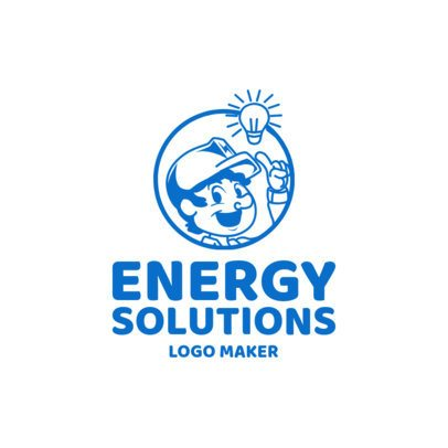 Electrician Services Logo Maker with Electric Icons 1183d