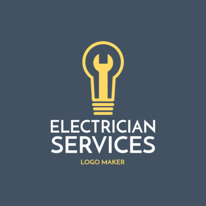 Electrician Logo Maker with Light Bulb Images 1183f