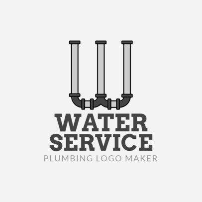 Plumbing Logo Maker with Pipe Lettering 1239b