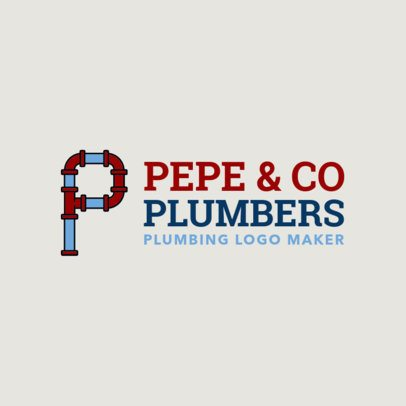 Plumbers Logo Maker with Pipe Fonts 1239c