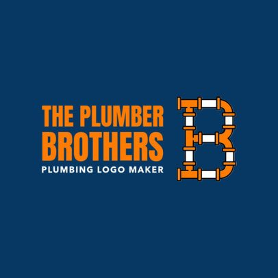 Plumber Logo Maker with Pipe Types 1239d