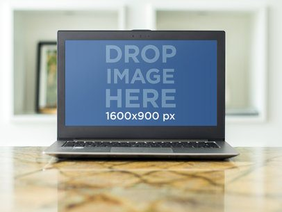 PC Laptop Mockup Template at Corporate Office