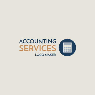 Accountant Logo Maker with Calculator Icon 1175d