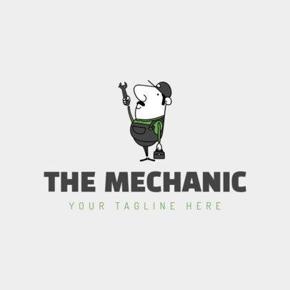 Mechanic Logo Maker with Cartoon Man 1186a