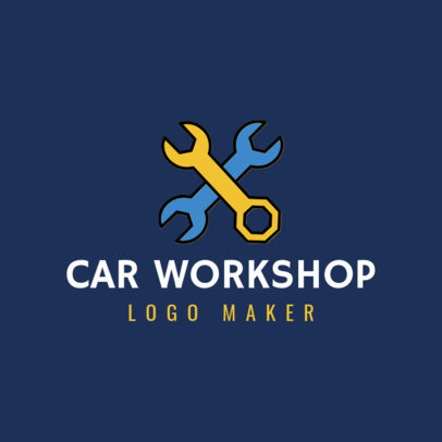 Car Workshop Logo Maker with Wrench Clipart 1186e