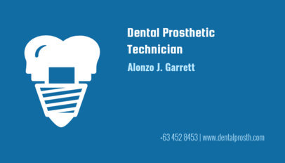 Dental Bussiness Card for a Prosthetic Technician 70b