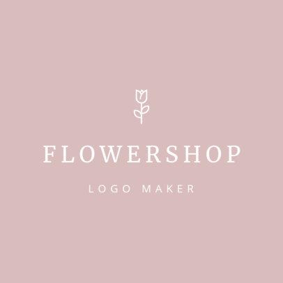 Online Logo Maker for Wedding Florists 1217b