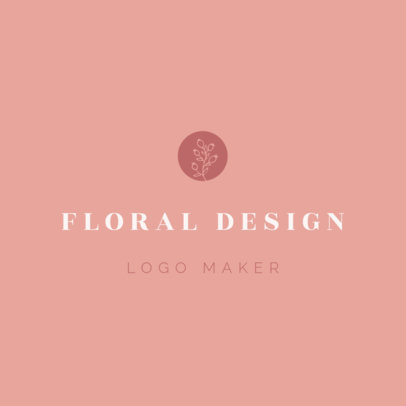 Logo Maker for Wedding Planners with Floral Design 1217d
