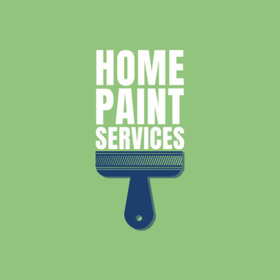 Interior House Painting Logo Maker with Different Handles 1164a